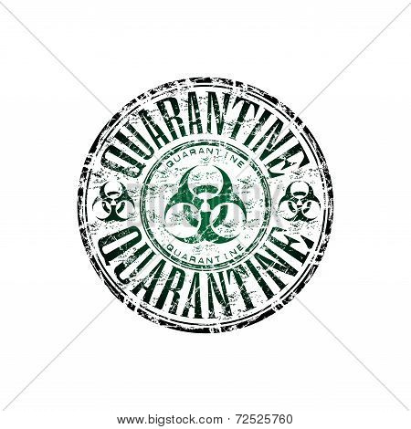 Quarantine grunge rubber stamp