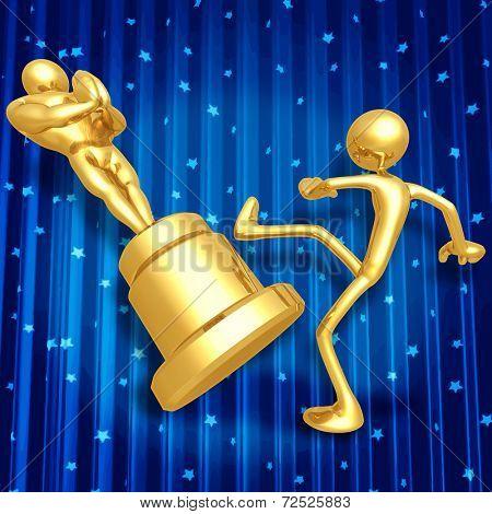 Film Award Loser Kicking Trophy