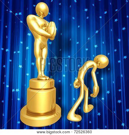 Film Award Loser Walking Away