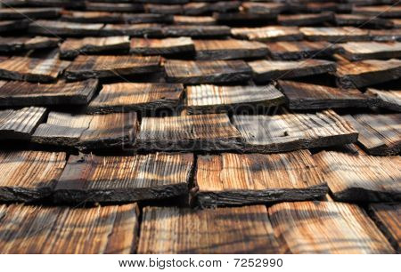 part of an old wooden roof