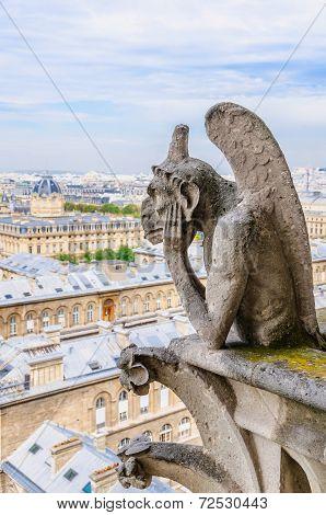 Gargoyle Observes Paris