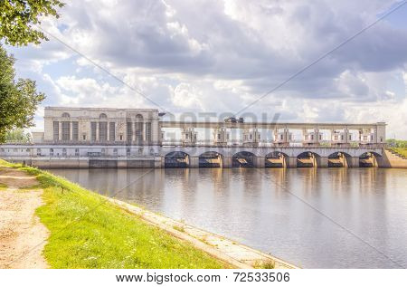 Hydroelectric Panorama Volga Uglich