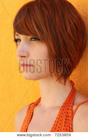 Woman in orange
