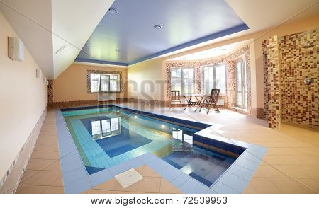 Modern Interior Of Swimming Pool