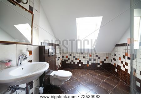 Nice Interior Of Bright Cloakroom