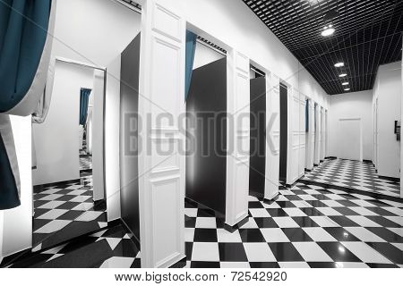 Interior Of Dressing Room At Cloth Store