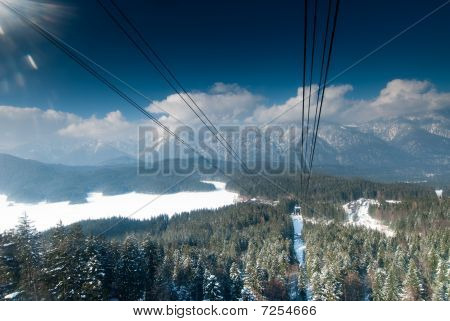 Winter Landscape In Germany, Allgau