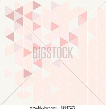 Pink, grey and violet triangle modern vector background