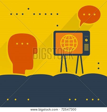 The viewer and TV