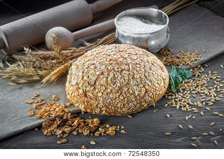 Wheat bran bread