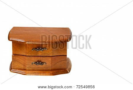 Used Oak Antique Dresser Isolated On White