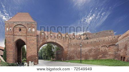 Bailey In Old Town Of Torun, Poland.