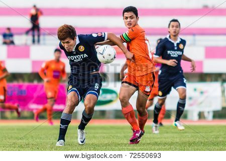 Sisaket Thailand-september 21: Sarayuth Chaikamdee Of Sisaket Fc. In Action During Friendly Match Be