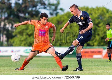 Sisaket Thailand-september 21: Gorka Unda Of Sisaket Fc. In Action During Friendly Match Between Sis
