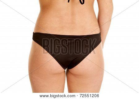 Butt Back Black Swim Suit