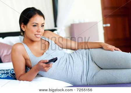 Woman Watcging Television