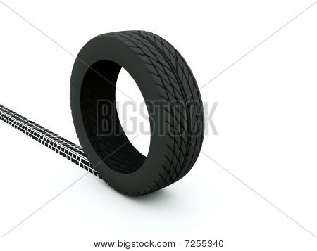 Tire with track