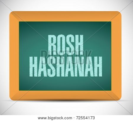 Rosh Hashanah Sign Message Illustration Design