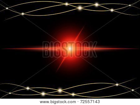 Red Abstract Beam Light