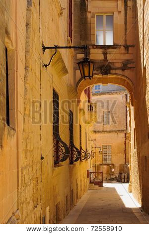 Alley In Mdina