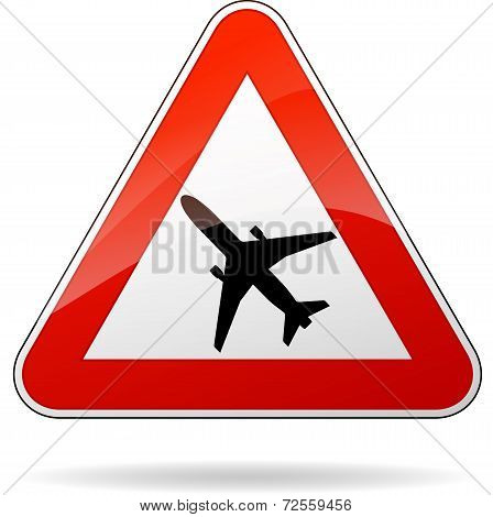 Beware Airplane Sign
