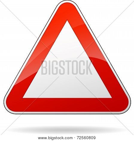Blank Triangular Sign