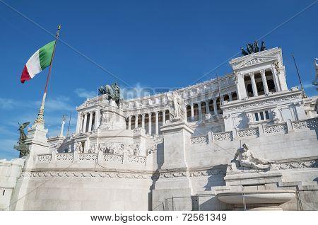 Vittorio Emanuele II in Rome Italy.