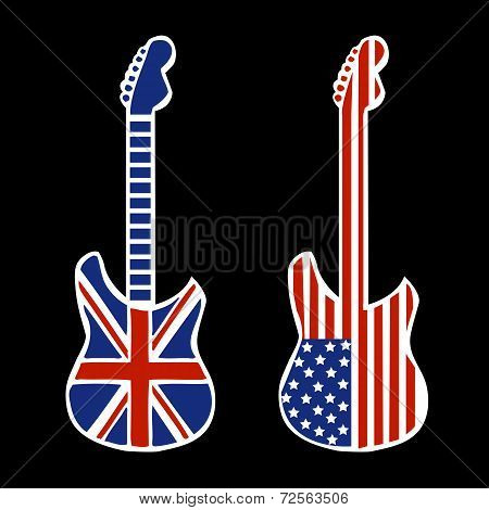 British and American Rock and Roll Guitars