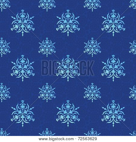Watercolor pattern with snow