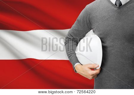 Architect With Flag On Background  - Austria