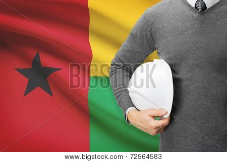Architect With Flag On Background  - Guinea-bissau