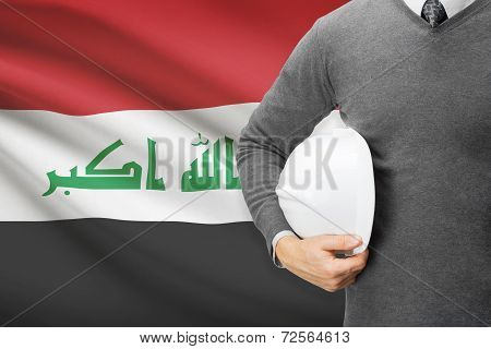 Architect With Flag On Background  - Iraq