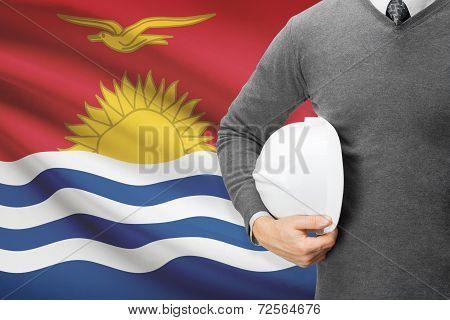 Architect With Flag On Background  - Kiribati