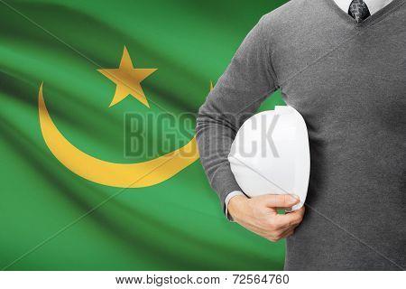 Architect With Flag On Background  - Mauritania