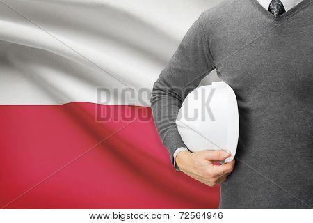 Architect With Flag On Background  - Poland