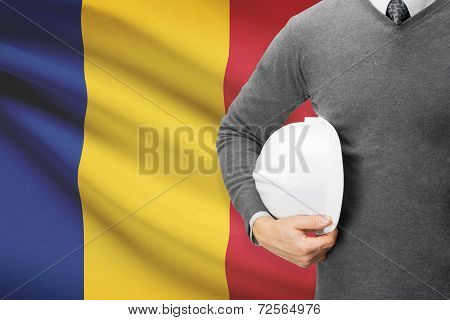 Architect With Flag On Background  - Romania
