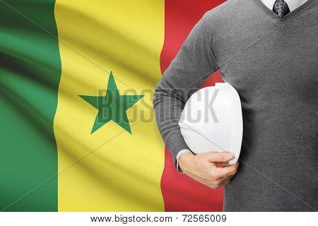 Architect With Flag On Background  - Senegal