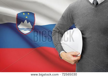 Architect With Flag On Background  - Slovenia