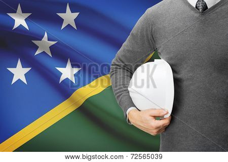 Architect With Flag On Background  - Solomon Islands