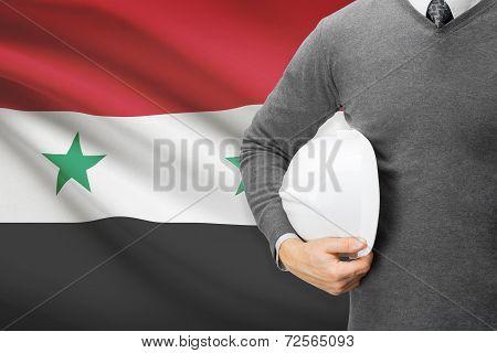 Architect With Flag On Background  - Syria