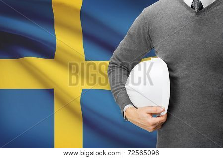 Architect With Flag On Background  - Sweden