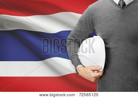 Architect With Flag On Background  - Thailand