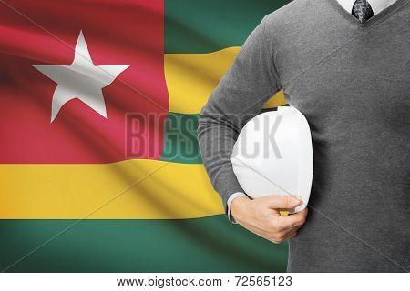 Architect With Flag On Background  - Togo