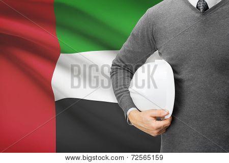 Architect With Flag On Background  - United Arab Emirates