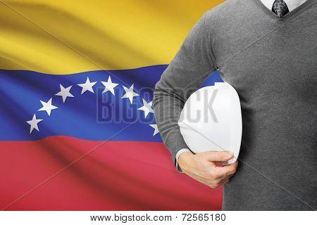 Architect With Flag On Background  - Venezuela