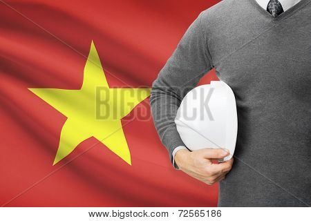 Architect With Flag On Background  - Vietnam