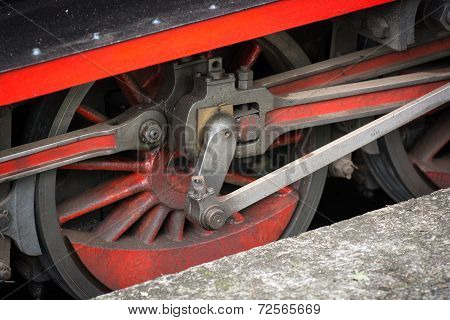 Wheels of a Vintage Steam Train