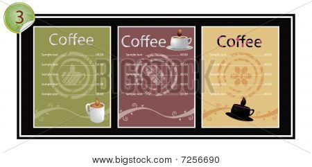 Set of coffee banners (vector)