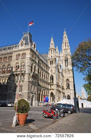 Rathaus (City Hall) In Vienna, Austria.