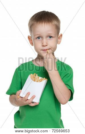 Little Boy With Fries